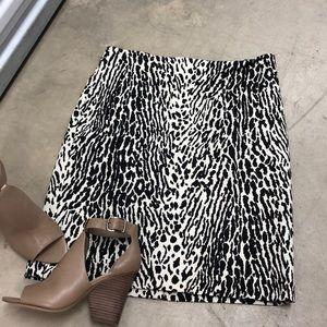 Talbots Animal Printed Skirt